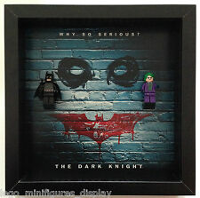 "Lego Minifigures Batman Superheroes Frame Display ""The Dark Knight"" and Joker"