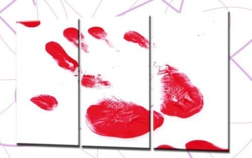 RED BLOOD 120x80cm 3 BILDER LEINWAND BLUT SAW HORROR