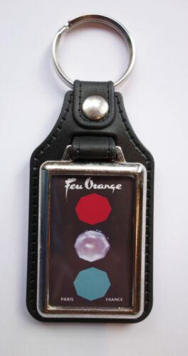 FEU Arancione In Finta Pelle Portachiavi//Portachiavi