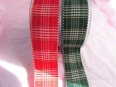 10m and 25m 5m 25mm Red Grosgrain Ribbon with Repeat Snowman Print in 1m