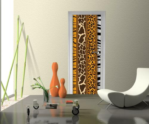 Türtapete Afrika Tiermuster Tapete Tür Türaufkleber Türbild Aufkleber