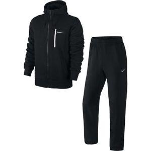 369f8b7125 Dettagli su Nike con Cappuccio Zip Intera Tuta Nero/Misure da Uomo