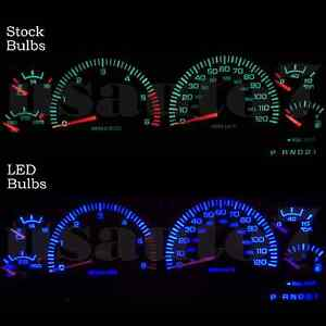 Image Is Loading Dash Instrument Cer Gauge Blue Led Lights Kit