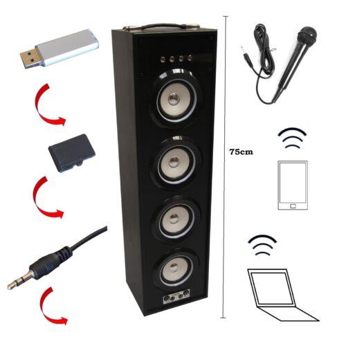 Mobile Bluetooth altavoz 75cm, negro, mikrofoneing., 4ls, fm-aux-usb-sd-mp3 box6