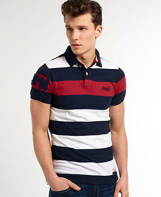 Superdry Polo Hoopstripe Hit Pour homme Rouge