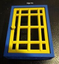 Lego Fabuland 4071a Door Porte Bleu Bleu + 4611 Barred Jaune Yellow du 3664