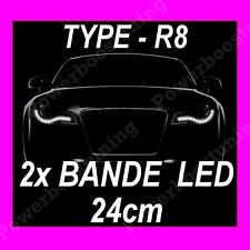2 BANDE LED BLANCHE FEUX DE JOUR DIURNE FEU BLANC SDI CDTI HPI D4D DTCI XDI CDT