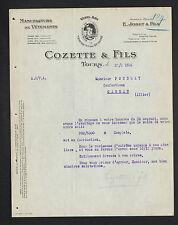 """TOURS (37) USINE de CONFECTION / MODE """"E. JOBET / COZETTE & Fils Succ."""" en 1924"""
