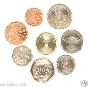 Uganda 10*set of 2 coins 50 c 1 shilling 1976 dealer lot 20 coins