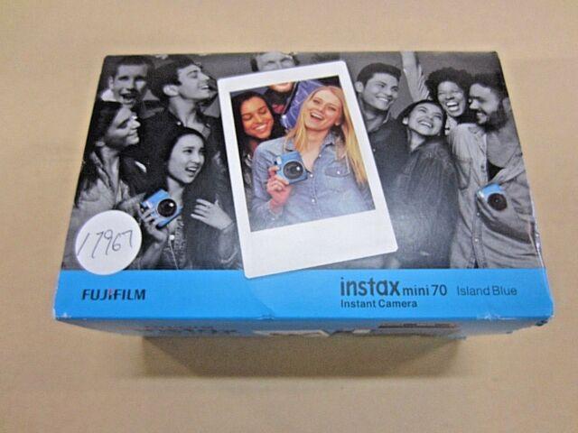 FUJIFILM INSTAX MINI 70 INSTANT FILM CAMERA (ISLAND BLUE) ~ BRAND NEW IN BOX