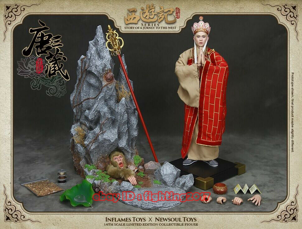 Inflames Toys X  NEWSOUL TOYS 1 6  A Jurney To The Wes-Tang Monk  IFT-012