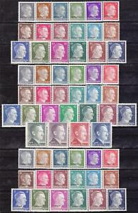 Nazi-3rd-Reich-3-Complete-MNH-Hitler-Sets-59-Stamps