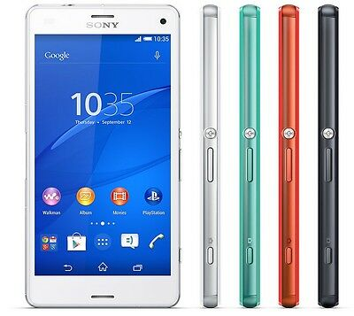 New Sony XPERIA Z3 Compact D5833 4.6'' 20.7MP (FACTORY UNLOCKED) 16GB Phone