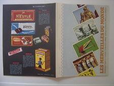 Protege Cahier NESTLE KOHLER chocolat merveilles du monde NESTEA NESCAO MAGGI