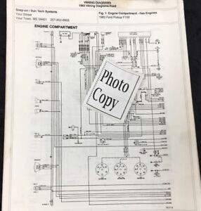 1983 Ford F 150 Wiring Diagrams Photo Copy Ebay