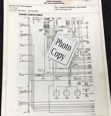 1983 f150 wiring diagram 1983 ford f 150 wiring diagrams photo copy ebay  1983 ford f 150 wiring diagrams photo