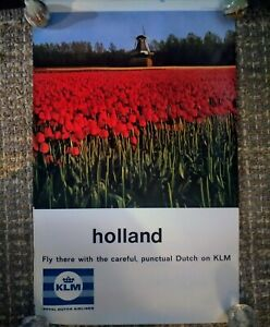 Vintage-Airline-Poster-KLM-Royal-Dutch-HOLLAND-Travel-Poster-Collect-Lithograph