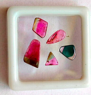 8 Pieces 7.45 Carats. 5.20x6.80mm-5.30x8.50mm Aprox Mix Shape Smooth Polished AAA+ Quality Loose Gemstone Natural Bio Tourmaline Cabochon