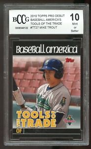 2010 Topps Pro Debut TOT #TT27 Mike Trout Rookie Card BGS BCCG 10 Mint+
