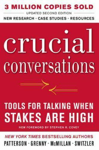 crucial conversations tools for talking when stakes