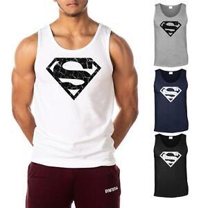 SUPERMAN-vascolare-men-039-s-Gym-Canotta-Canottiera-Bodybuilding-Stringer-T-shirt