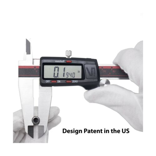VINCA DCLA-1205 Quality Electronic Digital Vernier Caliper Inch//Metric//Fracti...