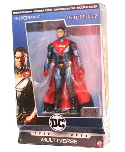 DC Multiverse Injustice 2 Superman Metal Platinum Collection Sealed In-Hand US
