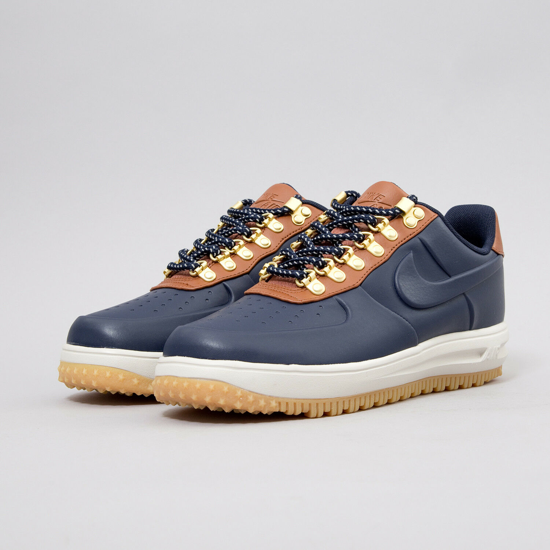 Mens Nike Lunar Force Duckboots Boots Sneakers New Navy AA1125-400 sku AA