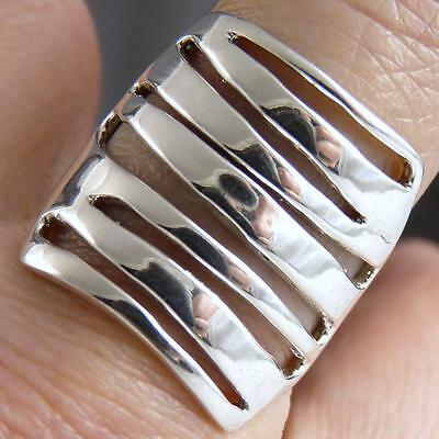 FIXED JALI STACK Size US 7.25 SILVERSARI Art Ring Solid 925 Sterling Silver
