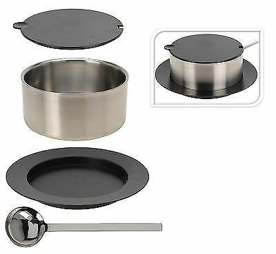 2.4L Stainless Steel Soup Tureen Serving Dish Insulated Casserole Dish Lid Ladle