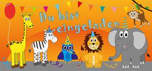 8-Einladungskarten-mit-Kuverts-Geburtstag-Kindergeburtstag-bunte-Tiere-Safari