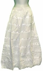 new womens skirt solid white a line skirt tiered maxi