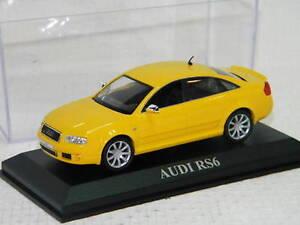 AUDI-RS6-Jaune-echelle-1-43-Voitures-de-Reve