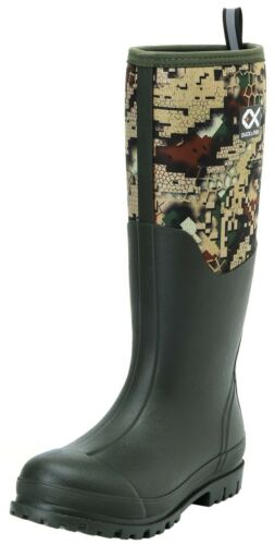"""Duck and Fish Men 16/"""" Neoprene High overlay Rubber Molded Outsole Knee boots"""