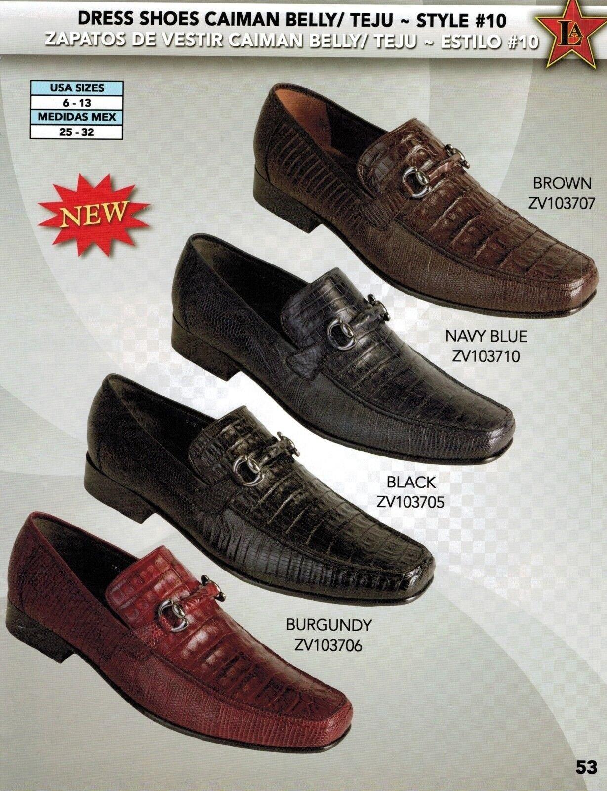 Zapatos De Vestir Los Altos para hombre estilo Genuino Caiman vientre Teju Sin Cordones Mocasín