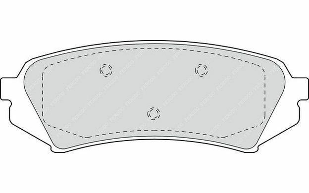 4x FERODO Plaquettes de frein Arrière pour TOYOTA LAND CRUISER FDB1457