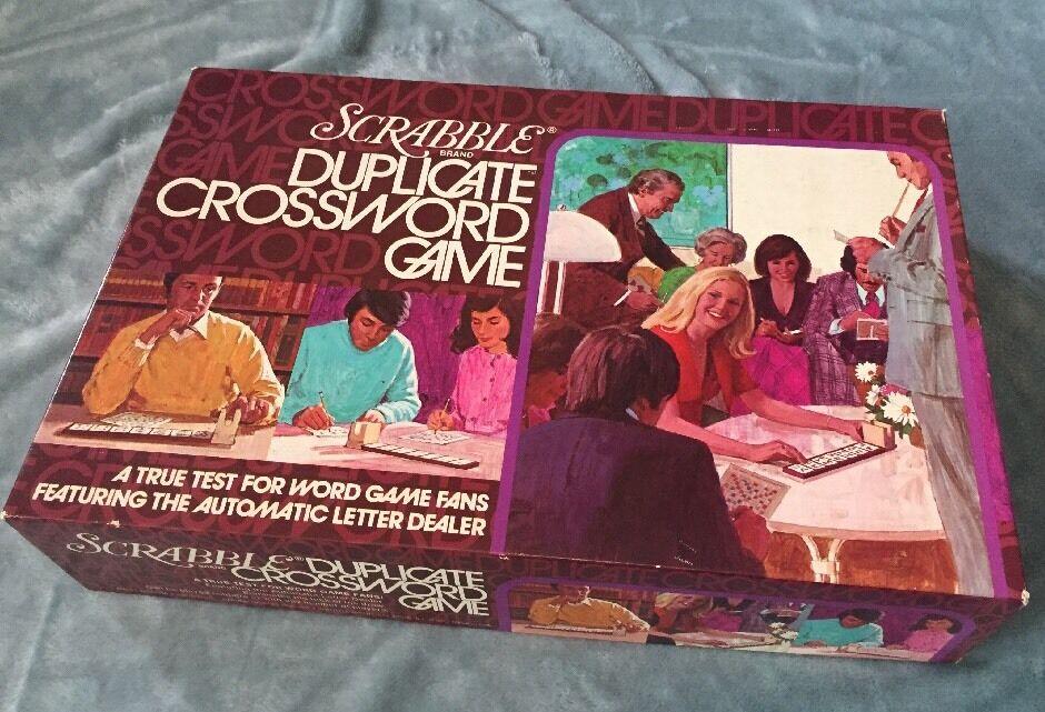 Scrabble Duplicate Crossword Game 1975 Vintage Game
