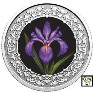 2020-039-Blue-Flag-Iras-Quebec-Emblems-of-Canada-039-3-Silver-Coin-RCM-177345-18923