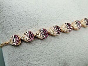 Turkish Handmade Jewelry 925 Sterling Silver Zircon Stone Ladies/' Bracelet