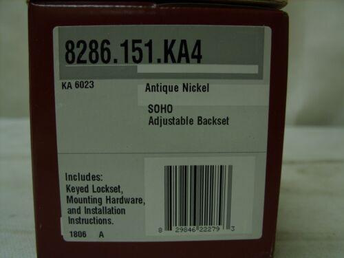 Antique Nickel Baldwin 8286.151.KA4 Traditional Cylinder Deadbolt Lock Set