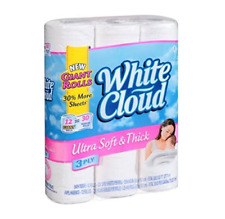 White Cloud Ultra Soft//Thick 3 Ply Bathroom Tissue 48 Giant Rolls