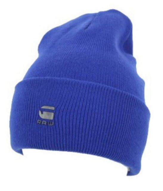 822f1fcdc05 Buy G Star Raw Original Long Beanie Hat in Bright Blue 100 Authentic ...