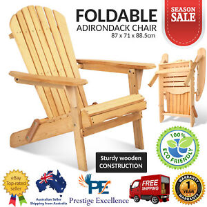 Folding-Adirondack-Chair-Outdoor-Furniture-Garden-Beach-Cape-Deck-Chairs-Natural