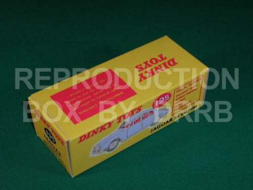 Caja de reproducción por drrb Dinky #195 Jaguar 3.4 Sedán Rojo