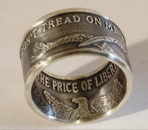 000cf2dfcc77 Don t Tread On Me .999 Silver Coin Ring Size 7 - 16