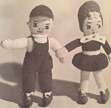 Vintage Knitting Pattern - DK - Jack & Jill Toy / Doll