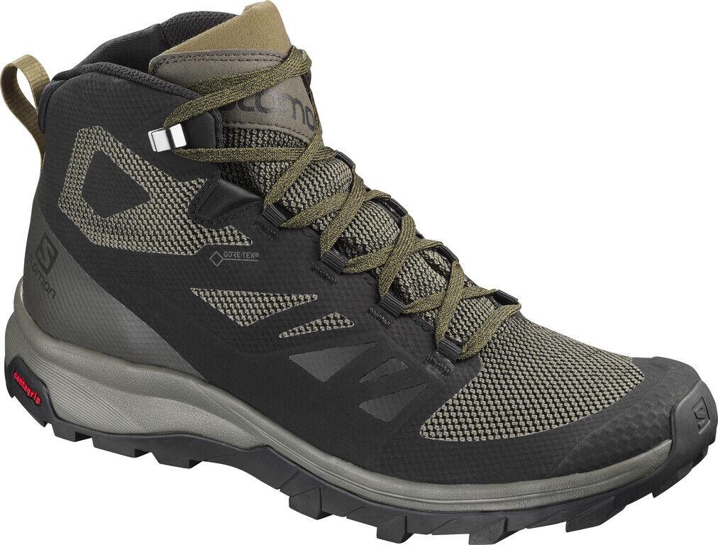 Salomon Outline Mid GTX Hombre Zapato Al Aire Libre botas de Montaña Ocio