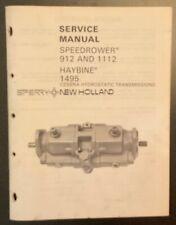 New Holland Speedrower 912 Amp 1112 And Haybine 1495 Service Manual Original