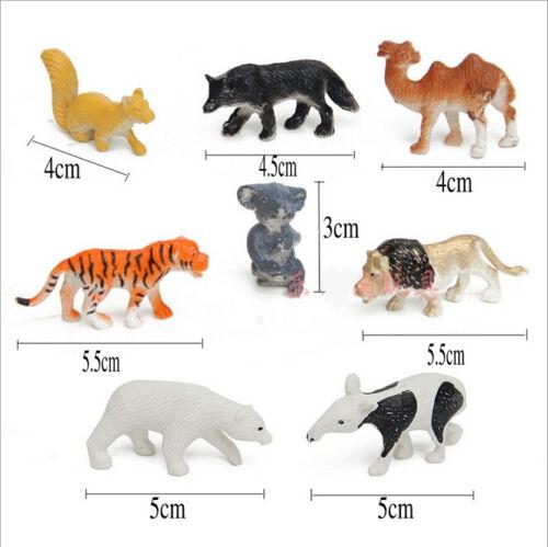 1 of 1 - 8Pcs/Set Simulation Animal Lion Koala Camel Model Toys For Children Kids Gift