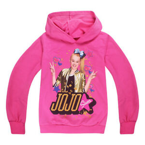 JOJO-SIWA-Girls-Kids-Hoodies-Sweatshirt-Pullover-T-shirt-Spring-Fall-Long-Sleeve